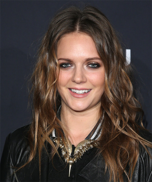 Tove Lo Long Wavy Casual Hairstyle Brunette Hair Color