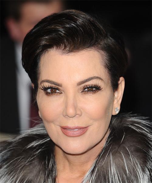 Kris Jenner Short Straight Formal Hairstyle Mocha Hair Color
