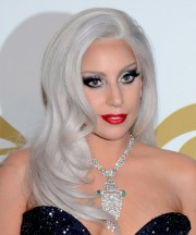 lady gaga long straight formal