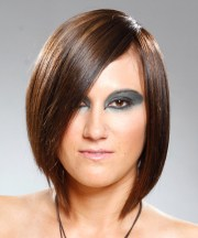 kim kardashian razor cut bob hairstyles