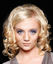 long curly formal hairstyle - light