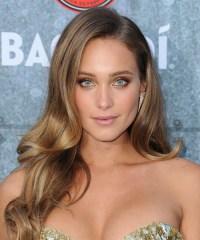 Hannah Davis Long Wavy Formal Hairstyle - Chestnut ...