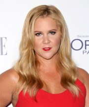 amy schumer casual long wavy hairstyle
