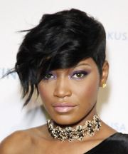 keke palmer short wavy formal hairstyle