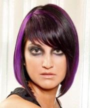 medium straight alternative hairstyle