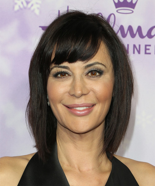 Catherine Bell Medium Straight Casual Hairstyle