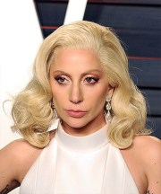 lady gaga medium wavy formal bob