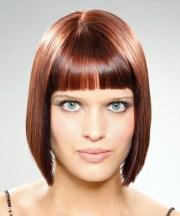 medium straight mahogany brunette