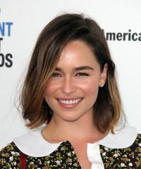 Emilia Clarke Medium Straight Casual Bob Hairstyle with ...