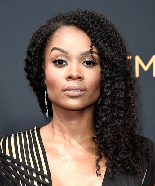 Zuri Hall Long Curly Black Hairstyle