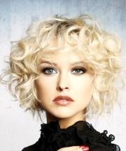 short curly light platinum blonde
