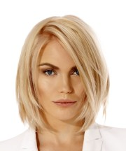 short straight light blonde bob
