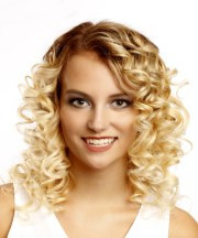 casual medium curly bob hairstyle