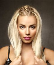 long straight light blonde hairstyle