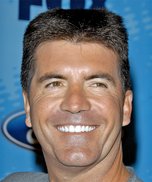 Simon Cowell Short Straight Casual Hairstyle