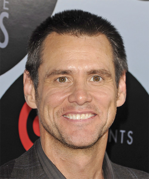 Jim Carrey Short Straight Casual Hairstyle