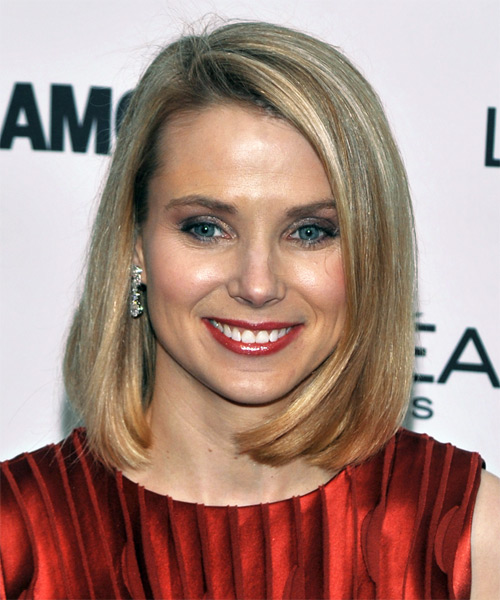Marissa Mayer Medium Straight Casual Hairstyle