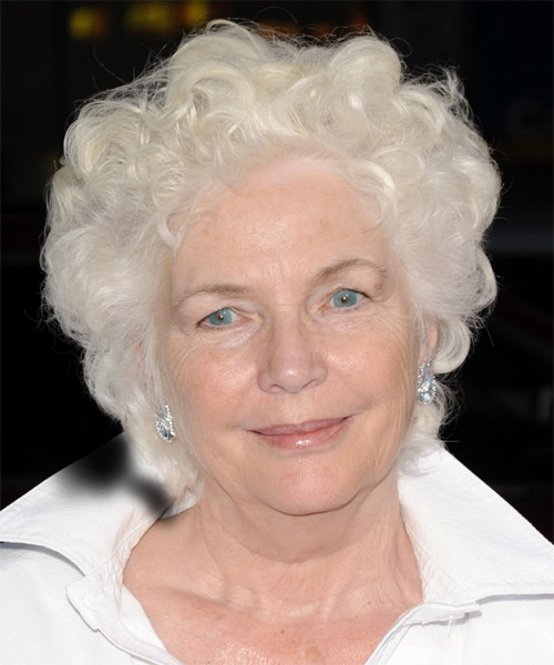 Fionnula Flanagan Short Curly Casual Hairstyle