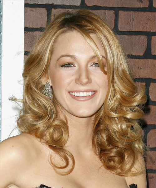 Blake Lively Long Wavy Formal Hairstyle