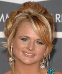Miranda Lambert Long Curly Formal Updo Hairstyle - Dark ...