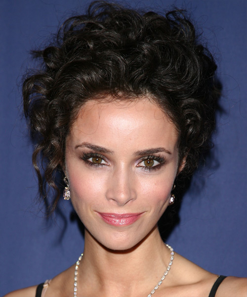 Abigail Spencer Long Curly Formal Updo Hairstyle