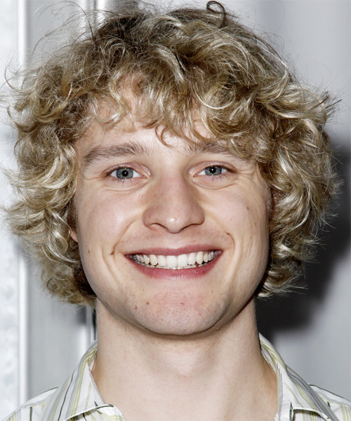 Charlie White Medium Curly Casual Hairstyle