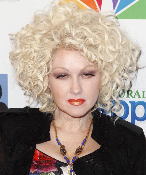 Cyndi Lauper Medium Curly Formal Hairstyle