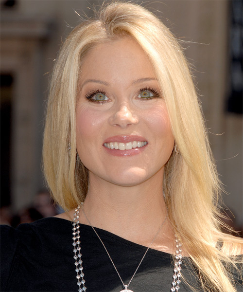 Christina Applegate Casual Long Straight Hairstyle