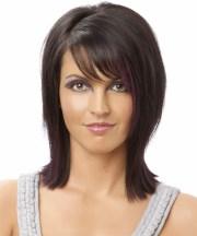 formal medium straight hairstyle