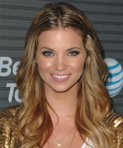 amber lancaster long curly casual