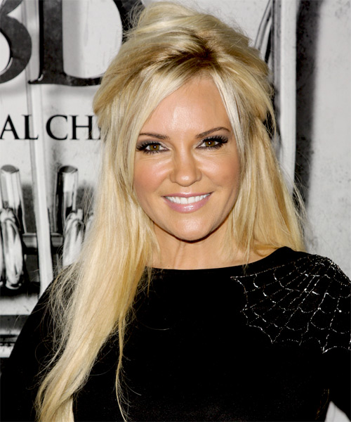 Bridget Marquardt Long Straight Casual Half Up Hairstyle