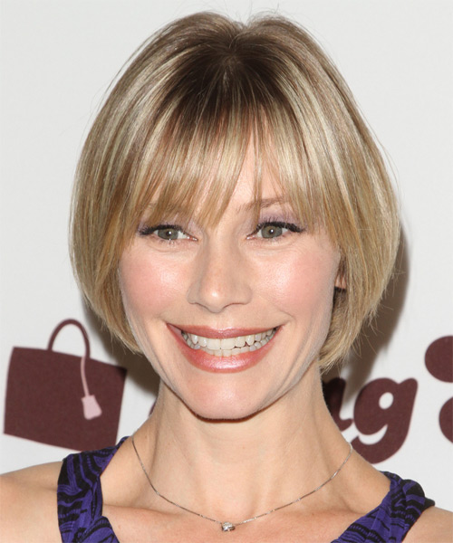 Meredith Monroe Short Straight Casual Hairstyle With Blunt