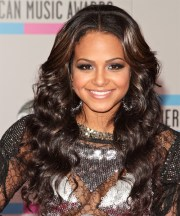 christina milian long curly dark