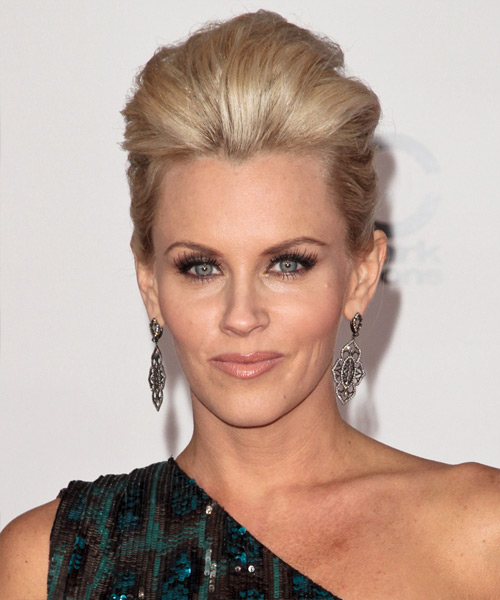 Jenny McCarthy Long Straight Formal Updo Hairstyle