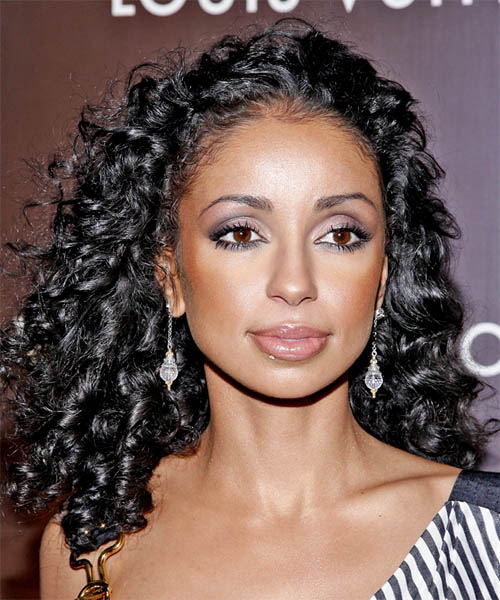 Mya Long Curly Formal Hairstyle TheHairStyler Com