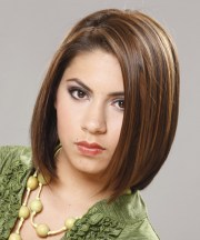 casual medium straight bob hairstyle