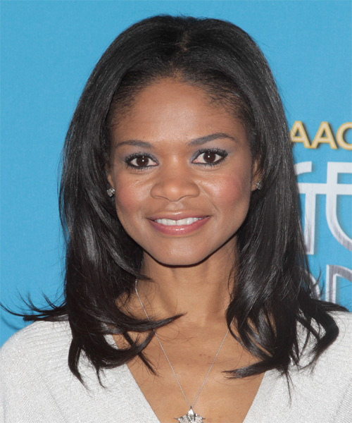 Kimberly Elise Casual Medium Straight Hairstyle Black
