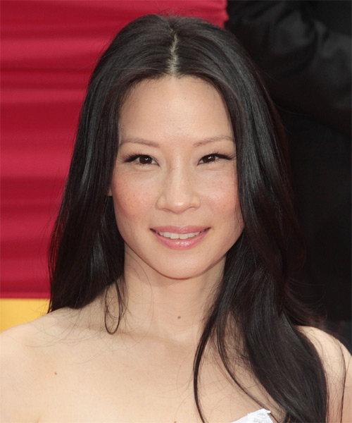 Lucy Liu Long Straight Formal Hairstyle Black Hair Color