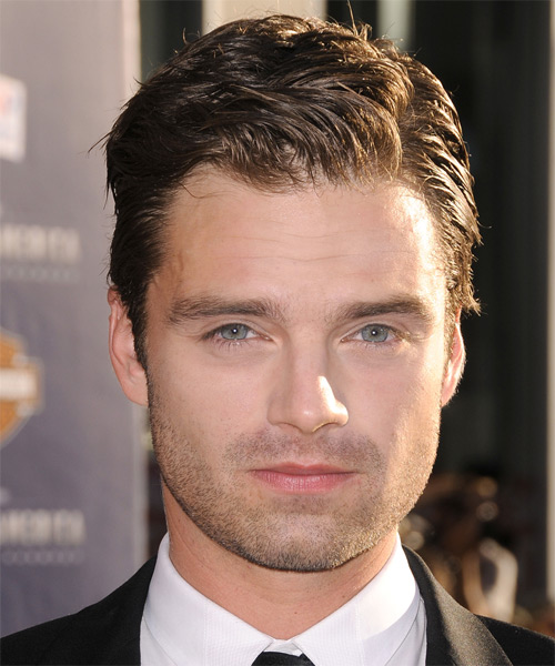 Sebastian Stan Formal Short Straight Hairstyle Brunette