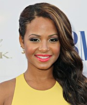 christina milian long wavy formal