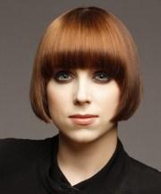 short straight copper brunette