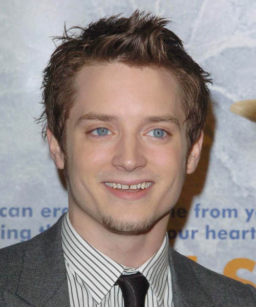 Elijah Wood Short Straight Casual Hairstyle Light