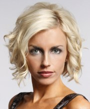 short wavy formal layered bob hairstyle