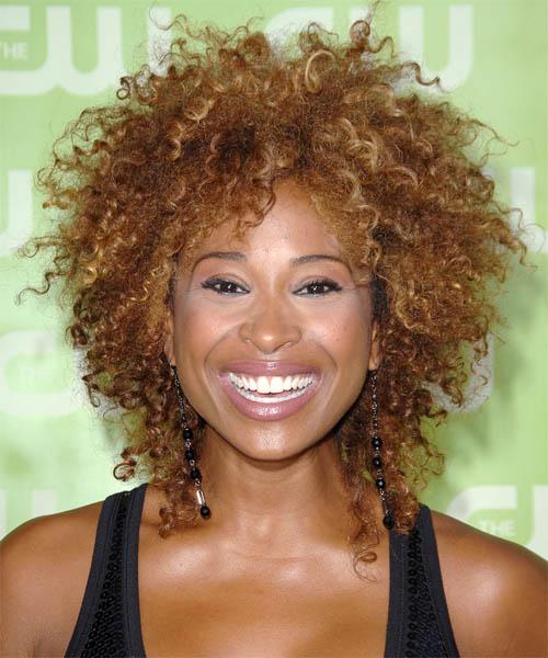 Tanika Ray Medium Curly Alternative Hairstyle