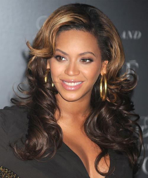 Beyonce Knowles Long Wavy Formal Hairstyle Dark Brunette