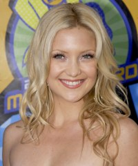 Kate Hudson Long Wavy Casual Hairstyle - Golden Blonde ...