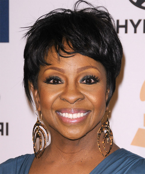 Gladys Knight Casual Short Straight Hairstyle with Layered