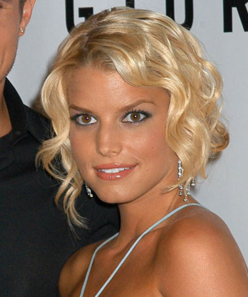 Jessica Simpson Formal Medium Curly Updo Hairstyle