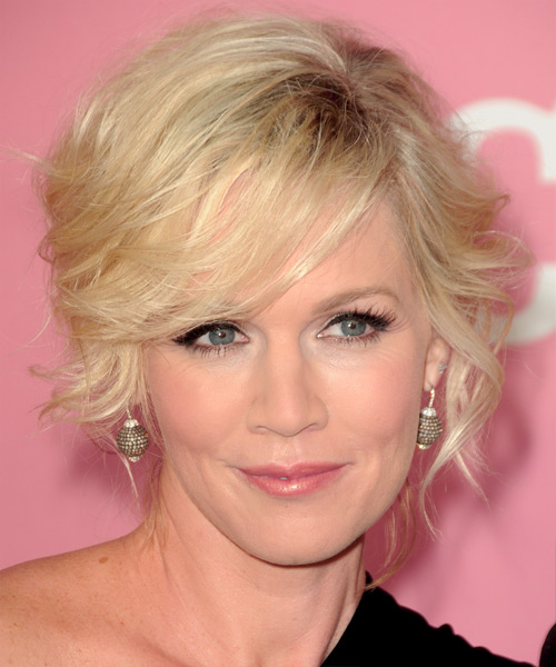 Jennie Garth Formal Medium Curly Updo Hairstyle With Side