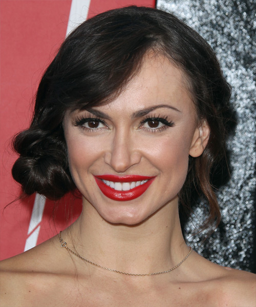 Karina Smirnoff Formal Long Straight Updo Hairstyle With